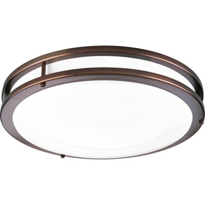 Hodge 1-Light LED Flush Mount Finish: Urban Bronze