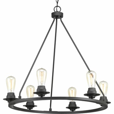 Miesha 6-Light Candle-Style Chandelier Finish: Graphite