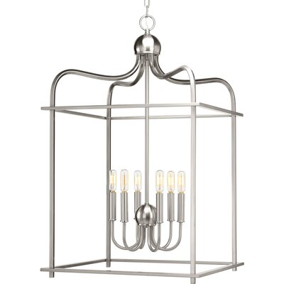Elsworth 6-Light Foyer Pendant Finish: Brushed Nickel
