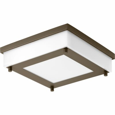 Hankerson 1-Light Flush Mount Finish: Architectural Bronze