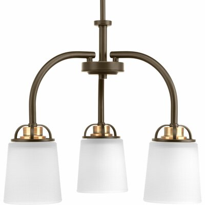 West Village 3-Light Shaded Chandelier Finish: Antique Bronze P400008-020