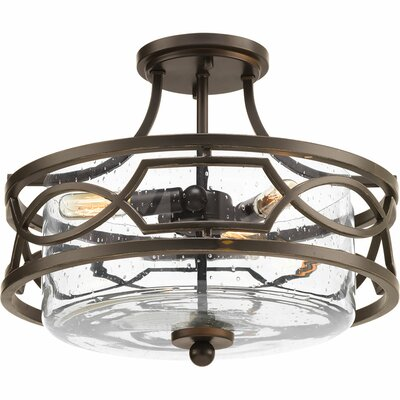 Soiree 3-Light Semi Flush Mount