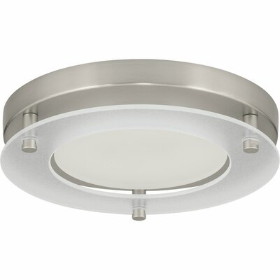 Philllip 1-Light Flush Mount Finish: Brushed Nickel