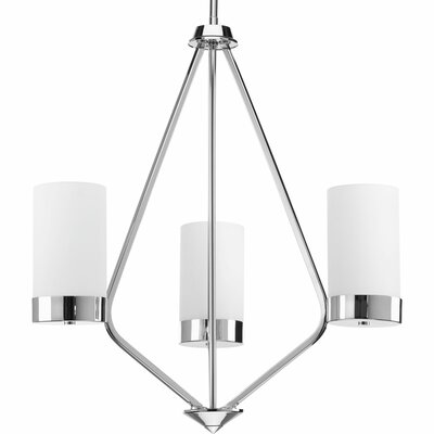 Elevate 3-Light Shaded Chandelier Finish: Polished Chrome