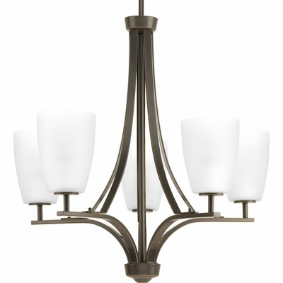 Leap 5-Light Shaded Chandelier Finish: Antique Bronze