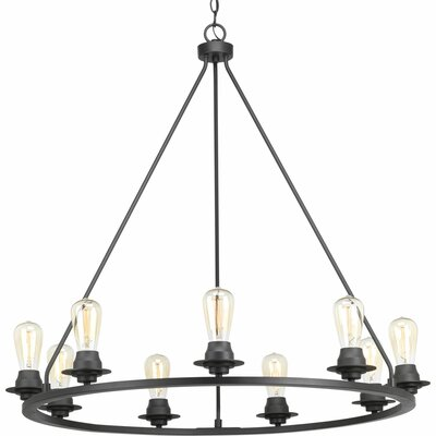 Miesha 9-Light Candle-Style Chandelier Finish: Graphite