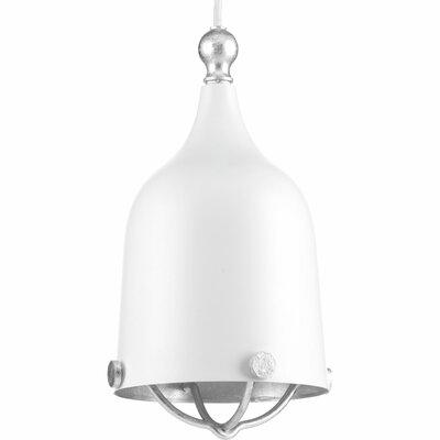 Robbs 1-Light Mini Pendant Finish: White, Size: 11.75 H x 6.38 W x 6.38 D