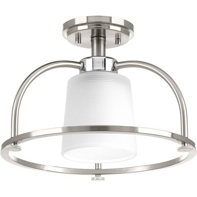 Seydou 1-Light Semi Flush Mount Finish: Brushed Nickel