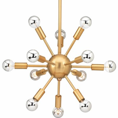 Zimmerman 12-Light Sputnik Chandelier Finish: Brushed Bronze