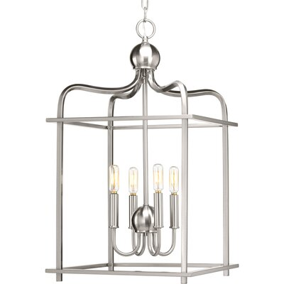 Assembly Hall 4-Light Foyer Pendant Finish: Brushed Nickel