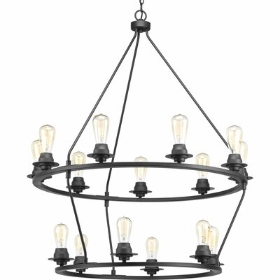 Debut 15-Light Candle-Style Chandelier Finish: Graphite
