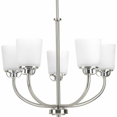 Seydou 5-Light Shaded Chandelier Finish: Brushed Nickel