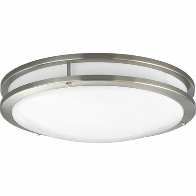 Hodge 1-Light LED Flush Mount Finish: Brushed Nickel