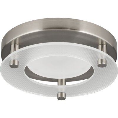Bolger 1-Light Flush Mount Finish: Brushed Nickel