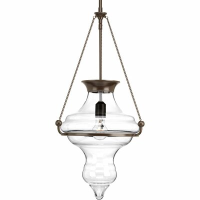 Fabrice 1-Light Schoolhouse Pendant Color: Antique Bronze