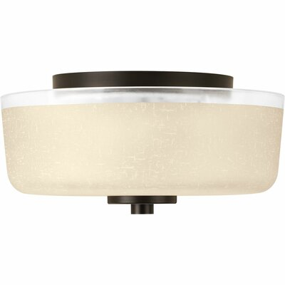Burch 2-Light Flush Mount Finish: Antique Bronze