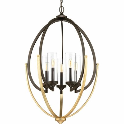 Zaleski 5-Light Candle-Style Chandelier Finish: Antique Bronze