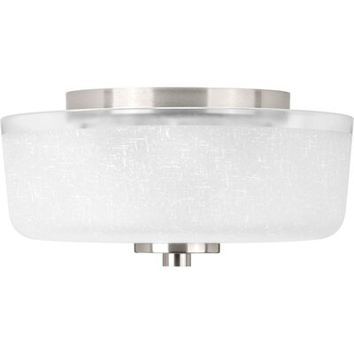 Nash 2-Light Flush Mount Finish: Brushed Nickel