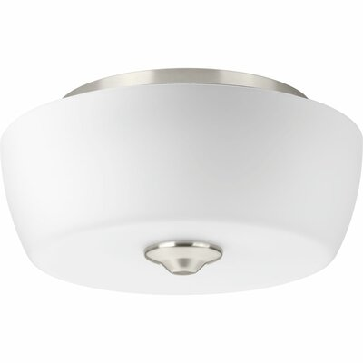 Leap 2-Light Flush Mount Finish: Brushed Nickel