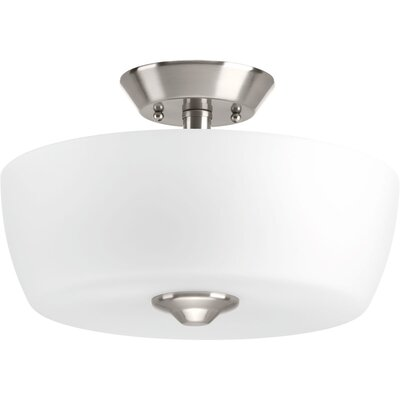 Leap 2-Light Semi Flush Mount Finish: Brushed Nickel