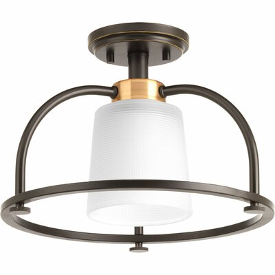 West Village 1-Light Semi Flush Mount Finish: Antique Bronze
