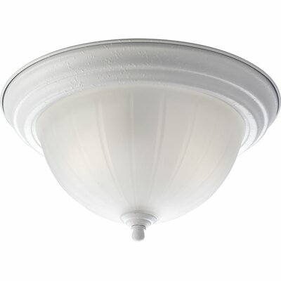 Micadeau Traditional 2-Light Flush Mount Finish: White