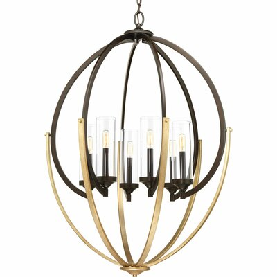 Evoke 6-Light Candle-Style Chandelier Finish: Antique Bronze