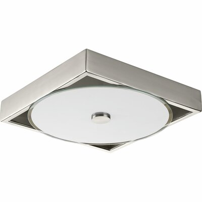 Little Sodbury 1-Light LED Flush Mount Finish: Brushed Nickel, Size: 2.25 H x 12 W x 12 D