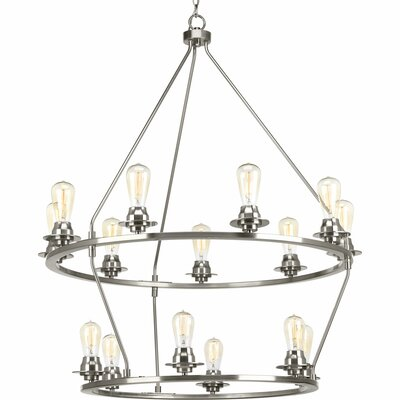 Miesha 15-Light Candle-Style Chandelier Finish: Brushed Nickel