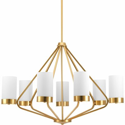 Kieron 7-Light Shaded Chandelier Finish: Brushed Bronze