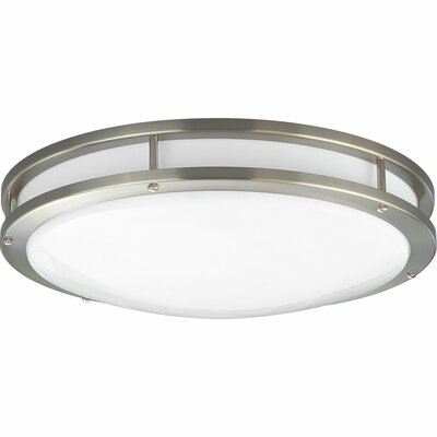 Circuline 1-Light Flush Mount Size: 3.5 H x 10.625 W, Finish: Brushed Nickel