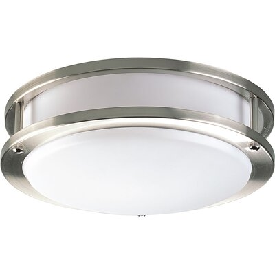 Jasvinder 1-Light Flush Mount Finish: Brushed Nickel, Size: 4.5 H x 17.625 W