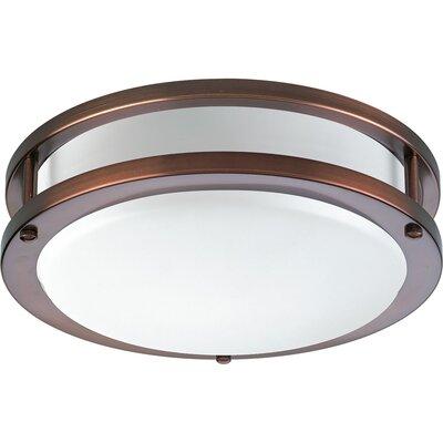 Jasvinder 1-Light Flush Mount Finish: Urban Bronze, Size: 4.5 H x 17.625 W