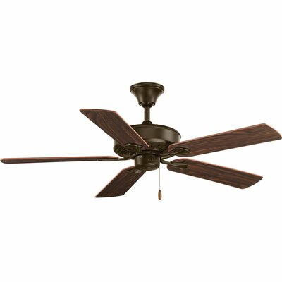 52 Covington 5-Blade Ceiling Fan Finish: Antique Bronze/Medium Cherry blades