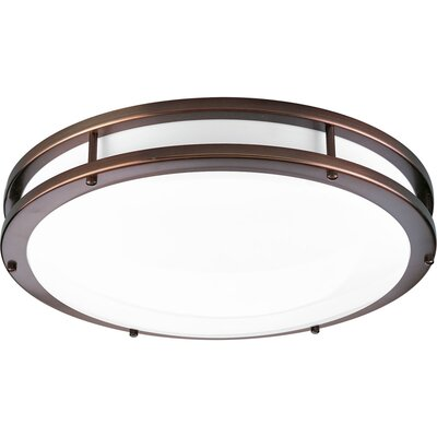 Circuline 1-Light Flush Mount Size: 3.5 H x 10.625 W, Finish: Urban Bronze