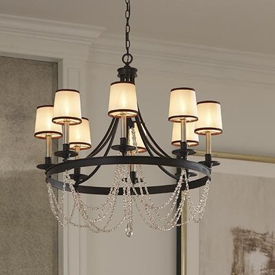 Allaire 9-Light Candle-Style Chandelier