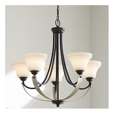 Noma 5-Light Shaded Chandelier Finish: Antique Bronze