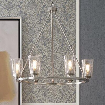 Miesha 6-Light Candle-Style Chandelier Finish: Brushed Nickel