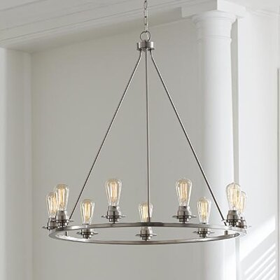 Miesha 9-Light Candle-Style Chandelier Finish: Brushed Nickel