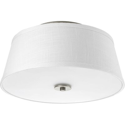 Bay City 2-Light Flush Mount Finish: Brushed Nickel