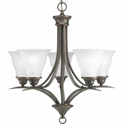 Trinity 5-Light Shaded Chandelier Finish: Antique Bronze