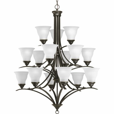 Trinity 15-Light Shaded Chandelier Finish: Antique Bronze