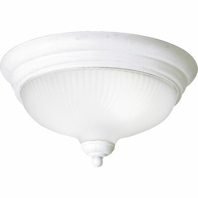 Melon 2-Light Flush Mount Size: 6.5 H x 12.75 W