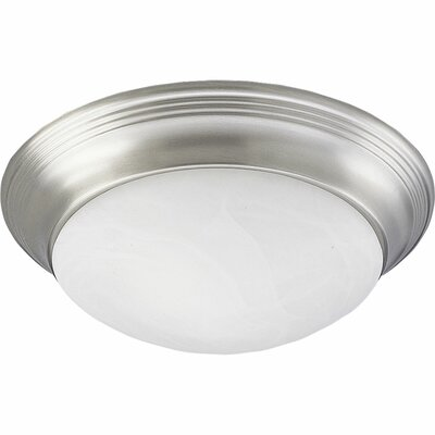 Bomberger 11.5 Flush Mount Finish: Brushed Nickel, Size: 4 3/4H x 14W x 14D