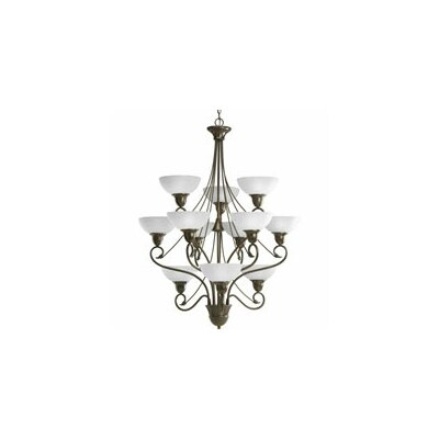Adrienne 12-Light Shaded Chandelier Finish: Antique Bronze