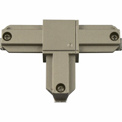 Alpha Trak Inside-Left Polarity T Connector Finish: Brushed Nickel
