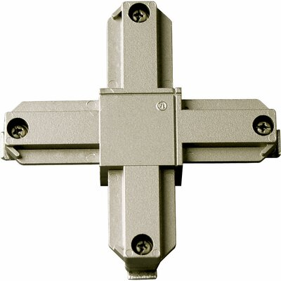 Alpha Trak Cross Connector Finish: Brushed Nickel