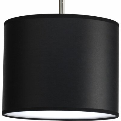 Yatendra Paper Drum Pendant Shade Finish: Black Parchment, Size: Small