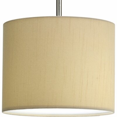 Yatendra Paper Drum Pendant Shade Finish: Beige Silk, Size: Small