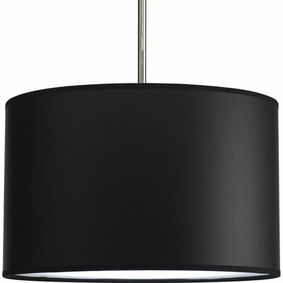 Yatendra Paper Drum Pendant Shade Finish: Black Parchment, Size: Medium